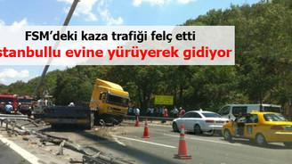 FSM'de kaza trafiği felç etti!