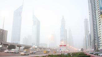 Dubai'de sis ve fırtına