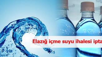 Elazığ İçme Suyu Projesi'nin ihalesi iptal