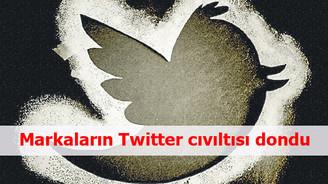 Markaların Twitter cıvıltısı dondu