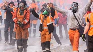 Belçika'da olaylı protesto