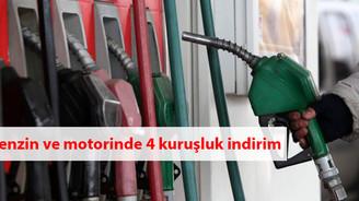 Benzin ve motorinde 4 kuruşluk indirim