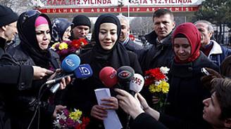 GATA'da başörtüsü protestosu