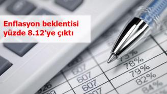 Enflasyon beklentisi yüzde 8.12'ye çıktı