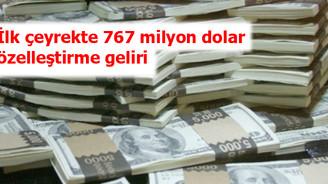 Özelleştirme geliri 767 milyon dolar oldu
