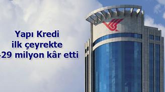 Yapı Kredi'nin çeyrek kârı 429 milyon lira
