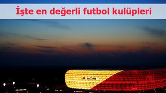 İşte en değerli futbol kulüpleri