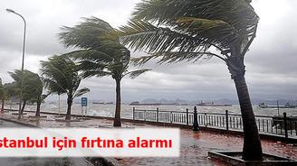 İstanbul için fırtına alarmı