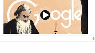 Lev Tolstoy Doodle oldu