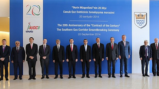 Güney Kafkasya Gaz Koridoru'nun temeli atıldı