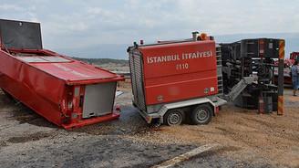 Madene giden 'ahtapot' kaza yaptı