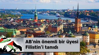 İsveç hükümeti Filistin'i tanıdı