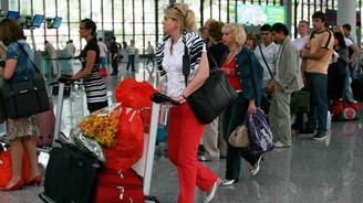 Antalya'ya gelen turist sayısı geriledi