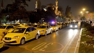 """Taksicilerden """"cinayet"""" eylemi"""