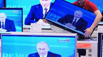 Putin'e Rusça televizyonla gözdağı