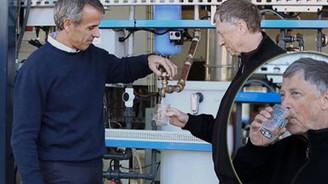 Bill Gates idrardan yapılan suyu içti