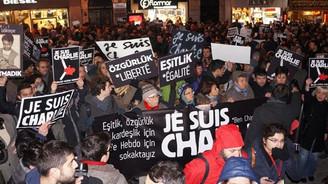 İstanbul'da Charlie Hebdo protestosu