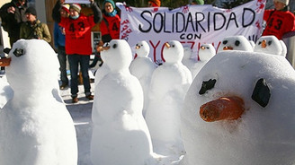 Davos toplantıları protesto edildi