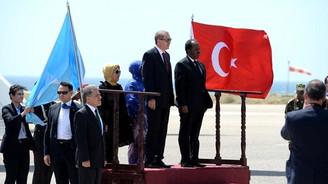 Cumhurbaşkanı Erdoğan'a 'Diriliş'li karşılama