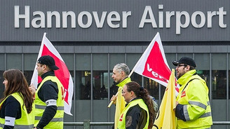 Almanya'da havalimanlarında uyarı grevi