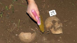 Tunceli'deki kazıda insan kemikleri bulundu
