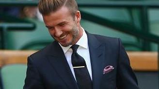 David Beckham utancından kızardı