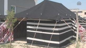 Arap Şeyhlerinin çadırı Uşak'tan