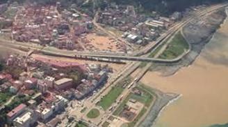 Felaket bölgesi havadan görüntülendi