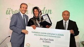 Tarımın girişimci Amazonları ödüllendirildi