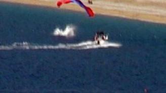 800 metreden denize çakıldı, yara almadı!