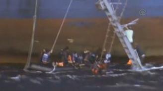 Göçmenlerin denizde yaşadığı dehşet anları kamerada