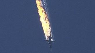 Uçağın düşüşü böyle görüntülendi!