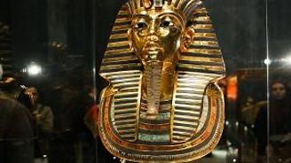 Firavun Kralı Tutankamun'un maskesi