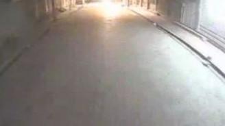 Roketatarlı saldırı polis aracının kamerasına yansıdı