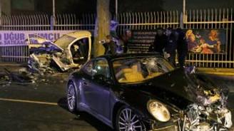 Beşiktaş'ta polisin yaşamını yitirdiği kaza kamerada