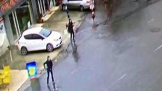 Bayrampaşa'daki saldırı anı kamerada