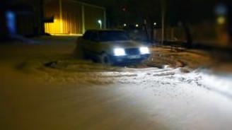 Kar üstünde drift yaptı