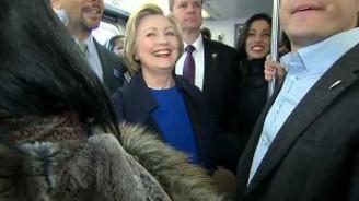 Hillary Clinton'un zorlu metro sınavı