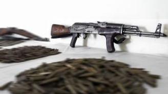 Operasyonlarda 115 yıllık nişancı tüfeği bulundu