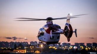"""""""Gece görüş sistemli"""" helikopter ambulans hasta nakline başladı"""