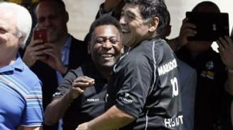 Maradona ve Pele'den tarihi buluşma!