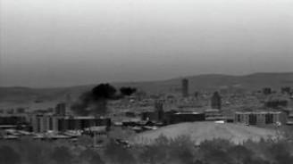 Cumhurbaşkanlığı Külliyesi'ne yapılan saldırı kamerada