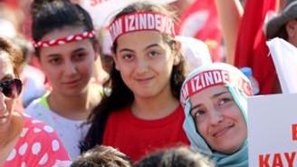 Taksim'de 'Demokrasi' buluşması