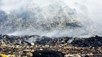 Bodrum'da çöplük yangını