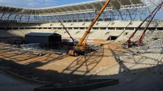 """""""Kayısı"""" temalı stadyumda sona yaklaşıldı"""
