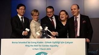 Borsa İstanbul'da gong kadın ve erkek eşitliği için çaldı