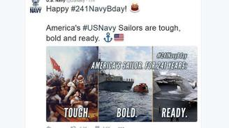 ABD donanmasından tepki gören paylaşım