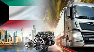 Kuveyt'teki kamyonlara Türk malı yedek parça