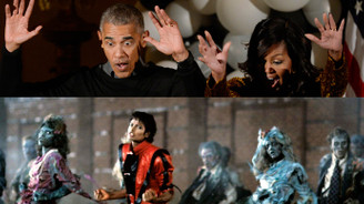 Obama'dan Michael Jackson dansı