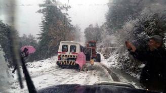 Alanya'da eğitime kar engeli